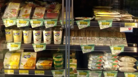 Vegan food in Italy: supermarkets