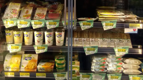 Vegan food in Italy Supermarkets