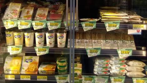 Vegan food in Italy Supermarkets