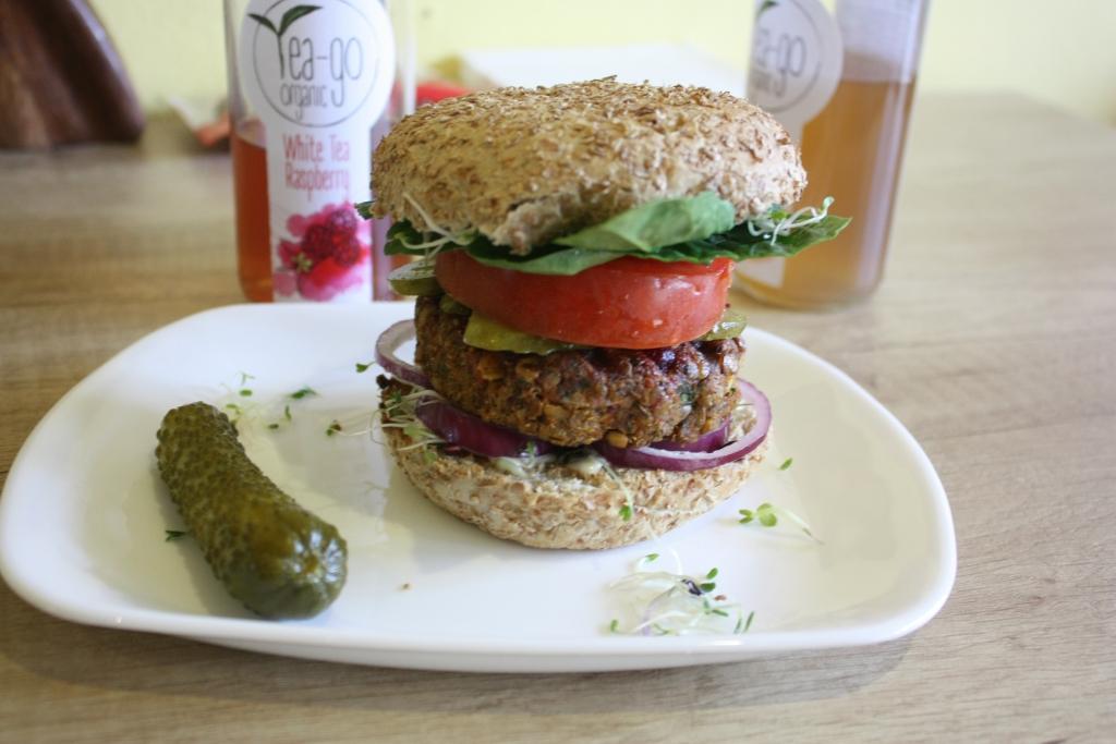 Vegan burger at Edgy Veggy, Sofia, Bulgaria. Photo by Caitlin Galer-Unti, The Vegan Word