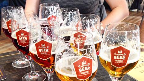 Selection of beer in Belgium