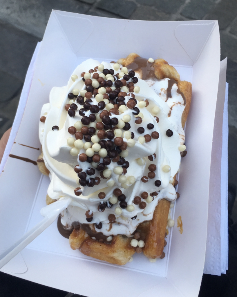 Vegan waffle in Brussels, Belgium