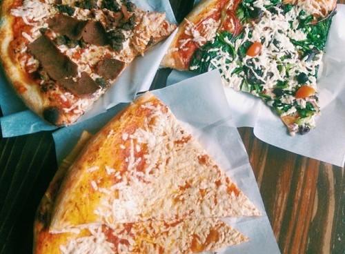 vegan pizza slices