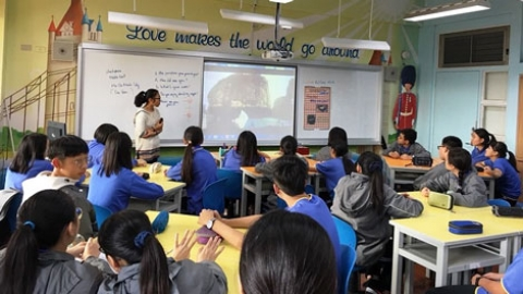 Non-profit project brings travellers to Taiwanese classrooms
