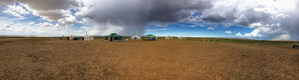 Our ger camp in the Gobi desert