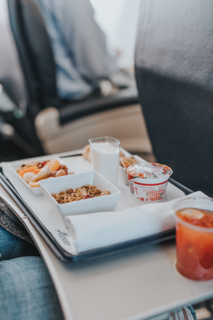 vegan airplane food