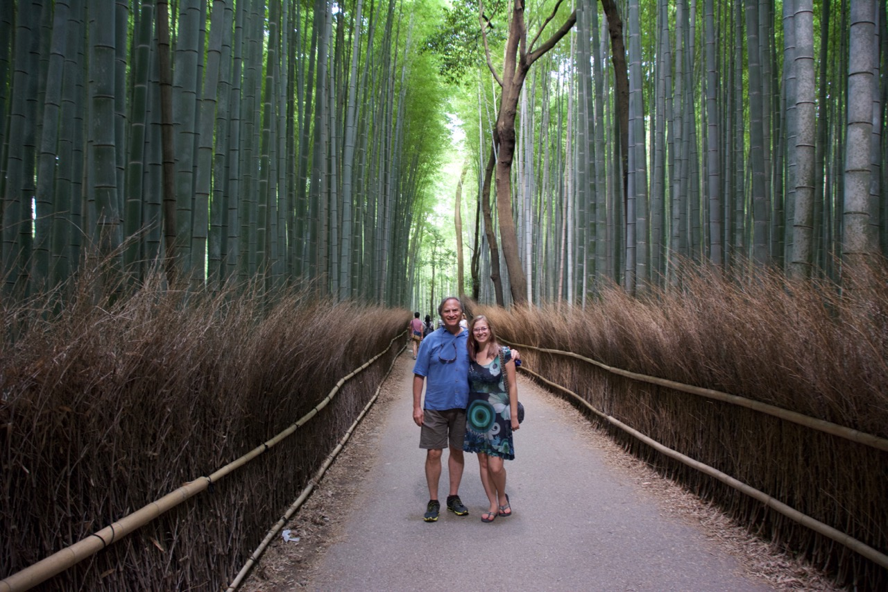 Michelle and I at Arashiyama in Kyoto